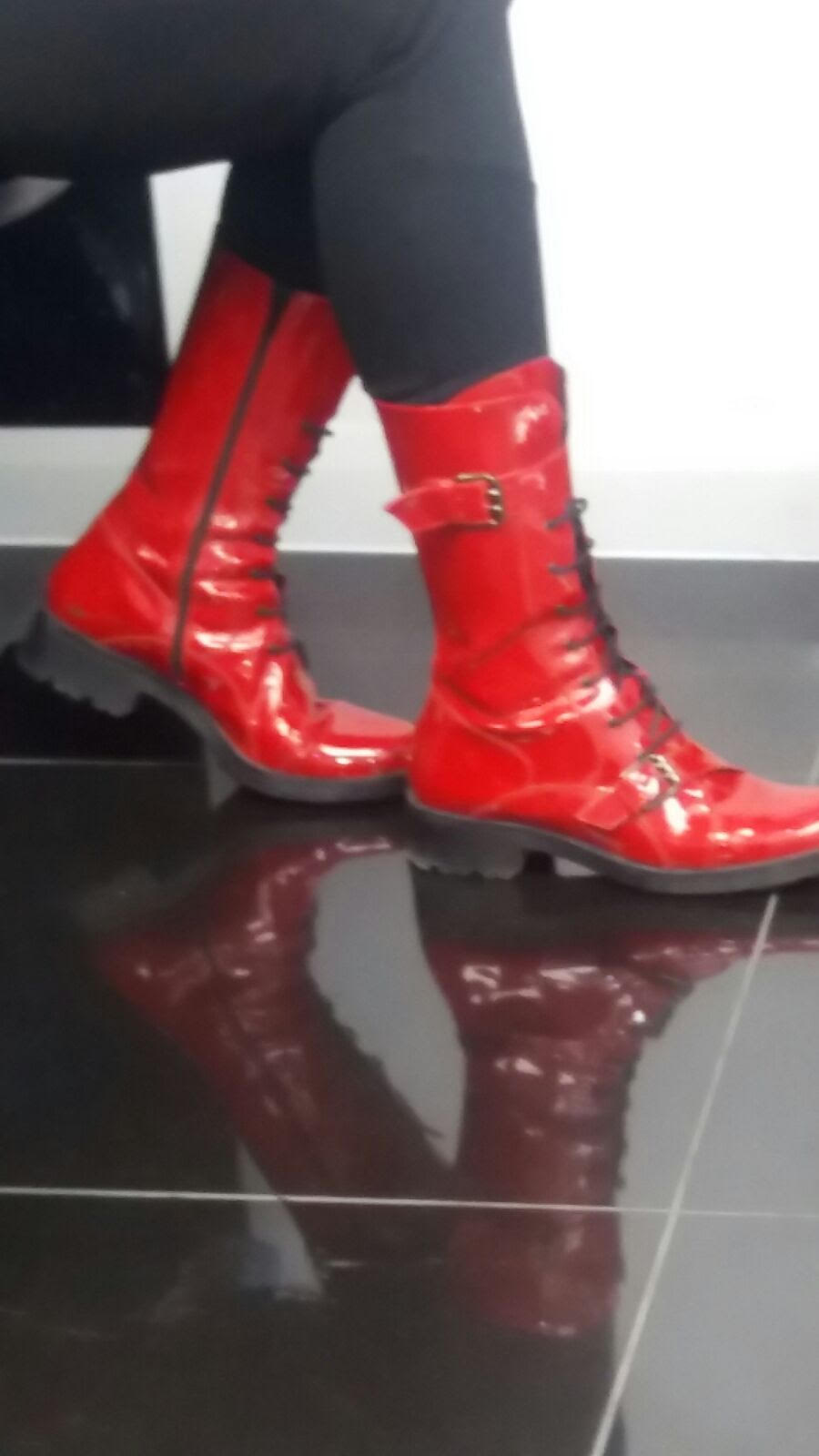 Red Boots Laced With Bold Courage